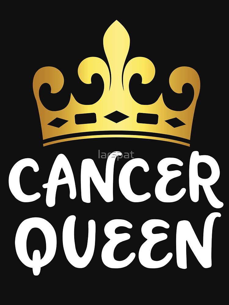 Cancer Queen Zodiac Birthday Gold Crown Funny Astrology T Shirt Gift