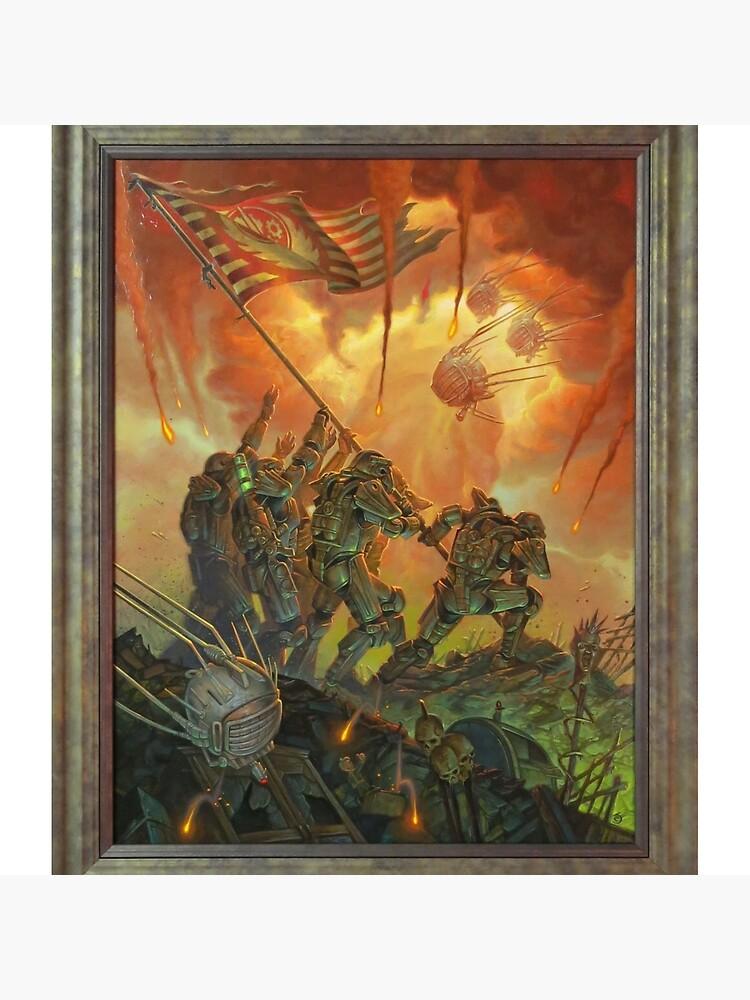 Fallout-Bruderschaft des Stahls Victory Fan Art Poster von DigiArtyst