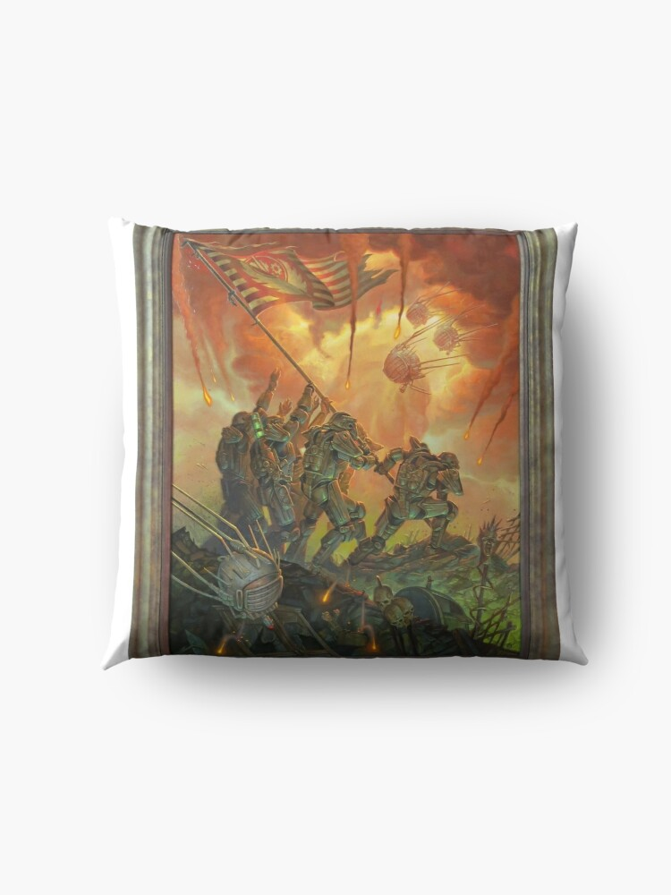 Alternative Ansicht von Fallout-Bruderschaft des Stahls Victory Fan Art Poster Bodenkissen