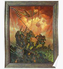 Fallout Brotherhood of Steel Victory Fan Art Poster  Poster