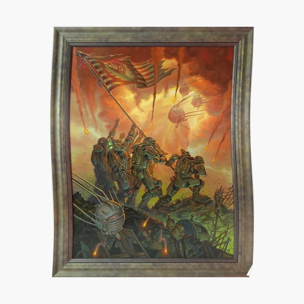 Fallout-Bruderschaft des Stahls Victory Fan Art Poster Poster