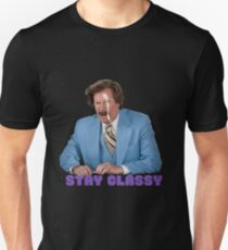 Ron Burgundy 'Stay Classy' Design Unisex T-Shirt