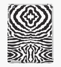 funky zebra pattern - black & white iPad Case/Skin