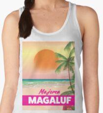 Magaluf Majorca beach travel poster Women's Tank Top