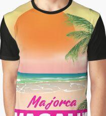 Magaluf Majorca beach travel poster Graphic T-Shirt