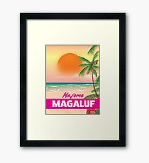 Magaluf Majorca beach travel poster Framed Print