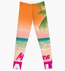 Magaluf Majorca beach travel poster Leggings