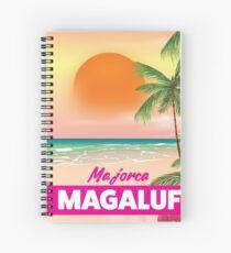 Magaluf Majorca beach travel poster Spiral Notebook