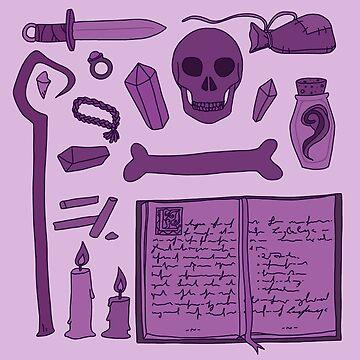 Necromancer Inventory by Leylaleya