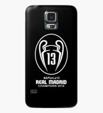 #APorLa13 REAL MADRID CHAMPIONS 2018 Black Case/Skin for Samsung Galaxy