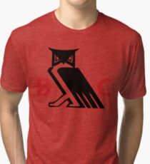 Bohemian Club - Moloch Owl - Cremation of Care Tri-blend T-Shirt