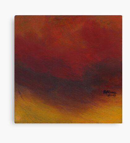Minimal Red study Canvas Print