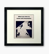 Rock Climbing and Mountaineering Framed Print