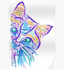 Póster Dibujo del tatuaje del gato