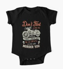 dont flirt with me motorcycle t-shirts One Piece - Short Sleeve