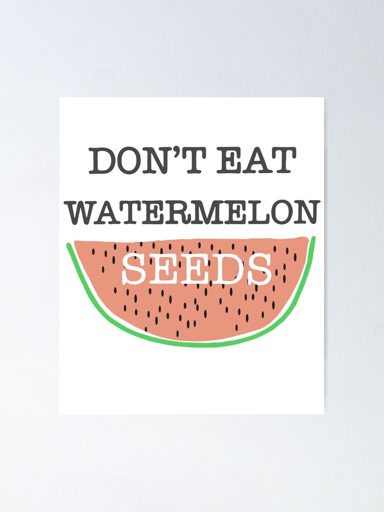 Women Dont Eat Watermelon Seed Funny Joke Pregnant Maternity Baby FITTED T-SHIRT
