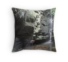 sojourn (waterfall) Throw Pillow