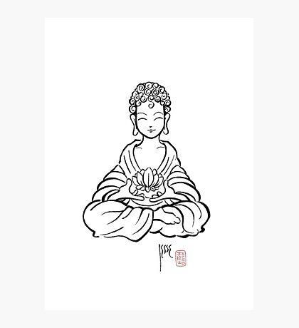 Buddha Lotus Photographic Print