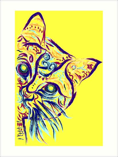 «Tatuaje de gato amarillo» de Nora Gad