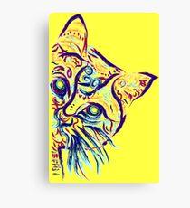 Lienzo Tatuaje de gato amarillo