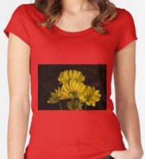 Yellow flowers Women's Fitted Scoop T-Shirt