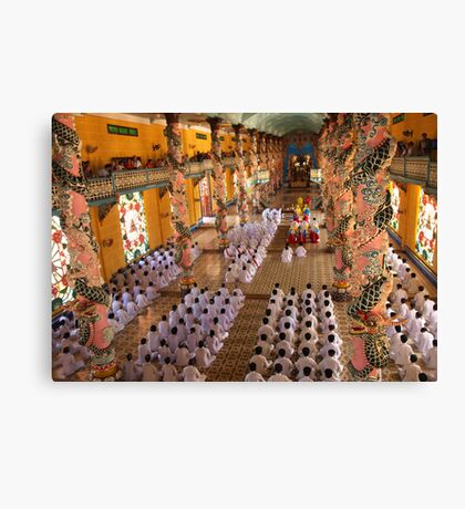 Cao Dai Temple Midday Service, Tay Ninh, Vietnam Canvas Print