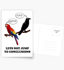 Let's Not Jump to Conclusions Postcards