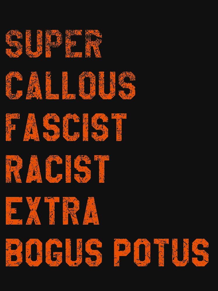 Super Callous Fascist Racist Extra BOGUS POTUS by del-vis