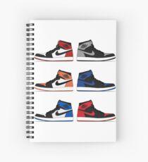 Jordan 1 Collection Spiral Notebook