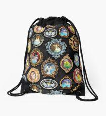 Budgies in Hats Drawstring Bag