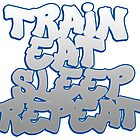 Train Eat Sleep Repeat by paintcave