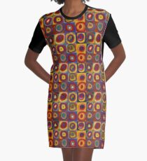 Wassily Kandinsky, Colour Study, Squares with Concentric Circles. Graphic T-Shirt Dress