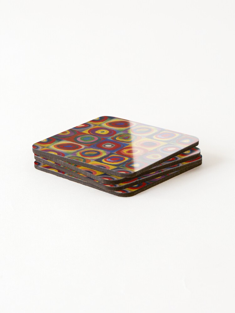 Alternate view of Wassily Kandinsky, Colour Study, Squares with Concentric Circles. Coasters (Set of 4)