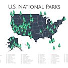 National Parks Explorer Map by parmarmedia