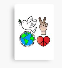 Peace Love & Harmony Canvas Print