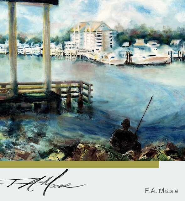 Gone Fishing. FA Moore Signature design, in Cloud White by F.A. Moore