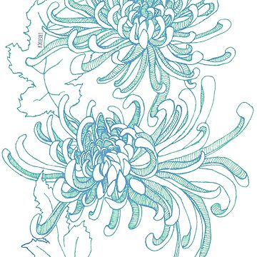 Chrysanthemum Infinity - Green by kikoeart