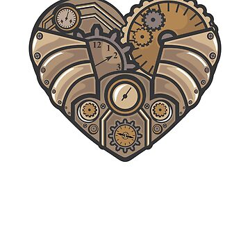 Steampunk Love Heart by mishodja