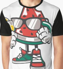 Summer Watermelon Chilling Graphic T-Shirt