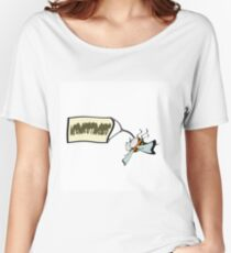 Dead bee with a banner with the word neonicotinoids, Women's Relaxed Fit T-Shirt