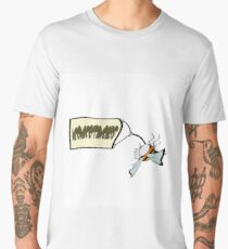Dead bee with a banner with the word neonicotinoids, Men's Premium T-Shirt