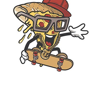 Pizza Slice Skateboarder by mishodja