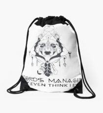 RECORDS MANAGER Drawstring Bag