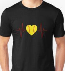 Softball Heart Beat Unisex T-Shirt