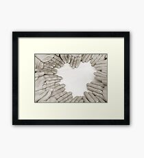 Hands: Love Framed Print
