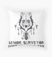SENIOR SURVEYOR Throw Pillow