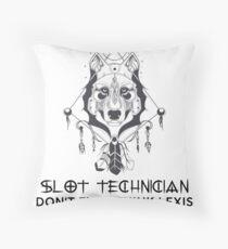 SLOT TECHNICIAN Throw Pillow