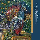 Peacock Garden. FA Moore Signature design, in Marine Blue by F.A. Moore