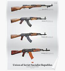 Dienstwaffen des Kalten Krieges der Sowjetunion Poster