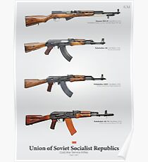 Cold War Service Rifles of the Soviet Union Poster